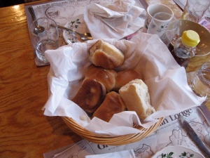 Tasty yeast rolls at Graves Mountain Lodge